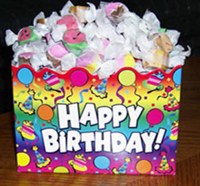 Picture of Happy Birthday 3 pound box of Taffy